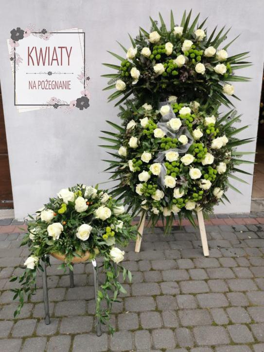 Komplet Wieniec Plus Stroik Na Trumne Nr5 Kwiaty Na Pozegnanie
