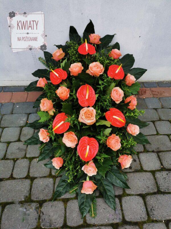 Wiązanka duża z naturalnych kwiatów na pogrzeb