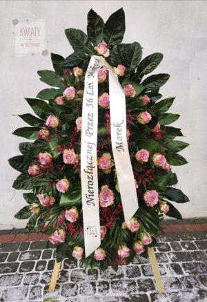 Wieniec pogrzebowy z naturalnych kwiatów