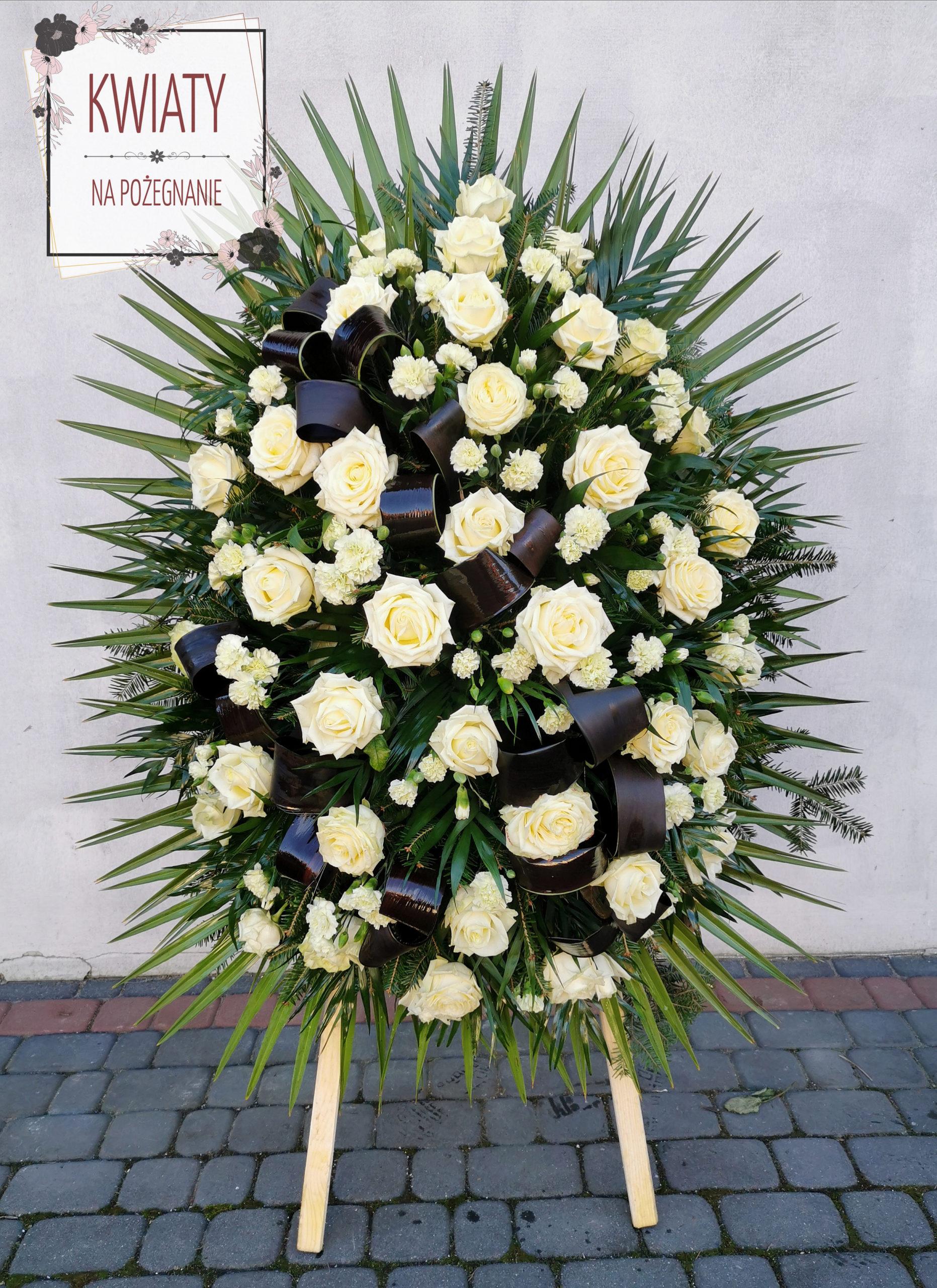 Wieniec Pogrzebowy Nr 27 Kwiaty Na Pozegnanie