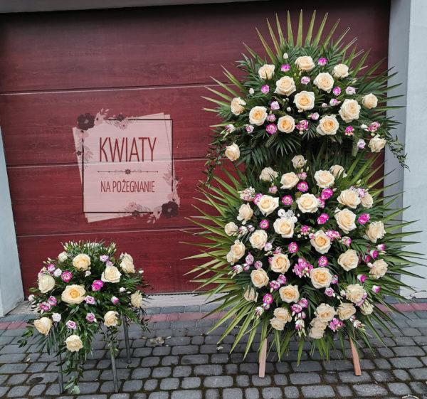 Wieniec pogrzebowy duży i stroik