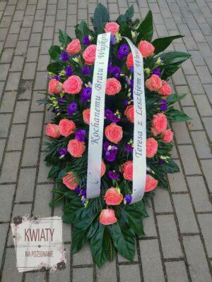 Wiązanka klasyczna z naturalnych kwiatów na pogrzeb