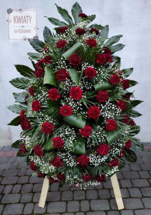 Wieniec z naturalnych kwiatów na pogrzeb