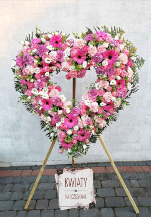 wieniec pogrzebowy rzymski - serce