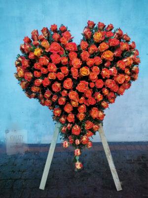 Wieniec Pogrzebowy w kształcie serca