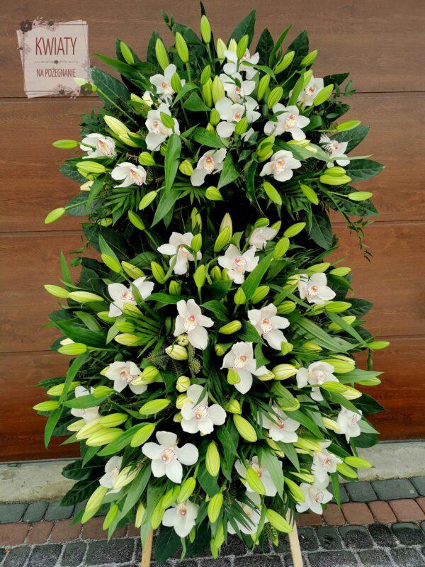 Wieniec pogrzebowy duży z naturalnych kwiatów