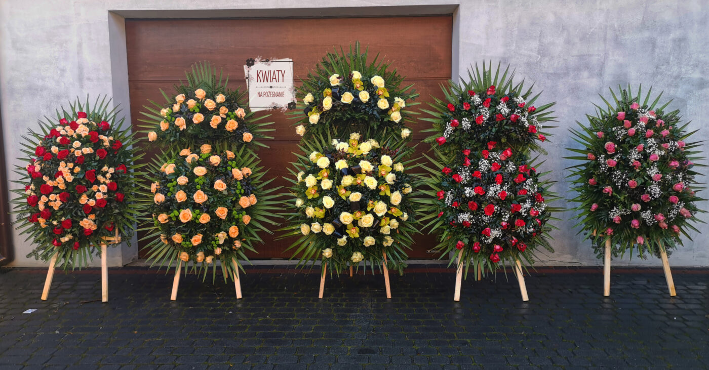 Oprawa florystyczna pogrzebu Wanda Broszkowska-Piklikiewicz